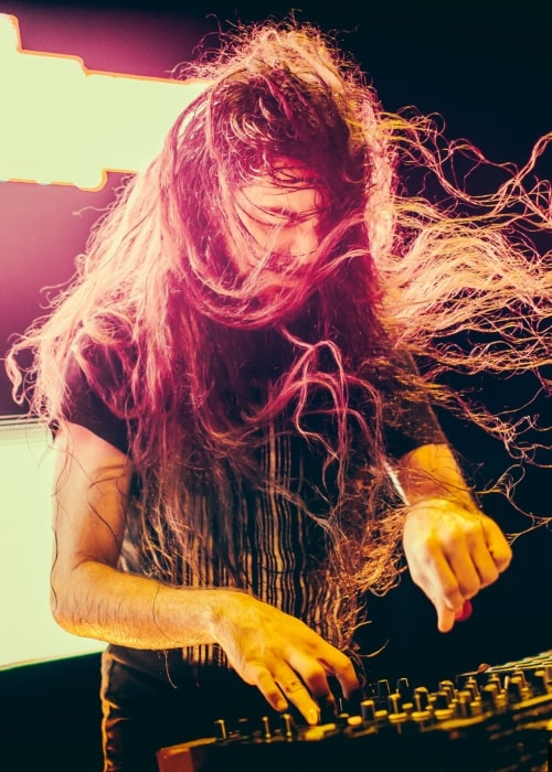 Bassnectar as seen in a picture taken during a live performance of his in the past