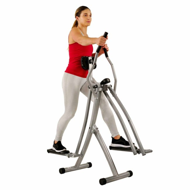 Sunny Health And Fitness SF-E902 Air Walk Trainer Elliptical Machine Workout
