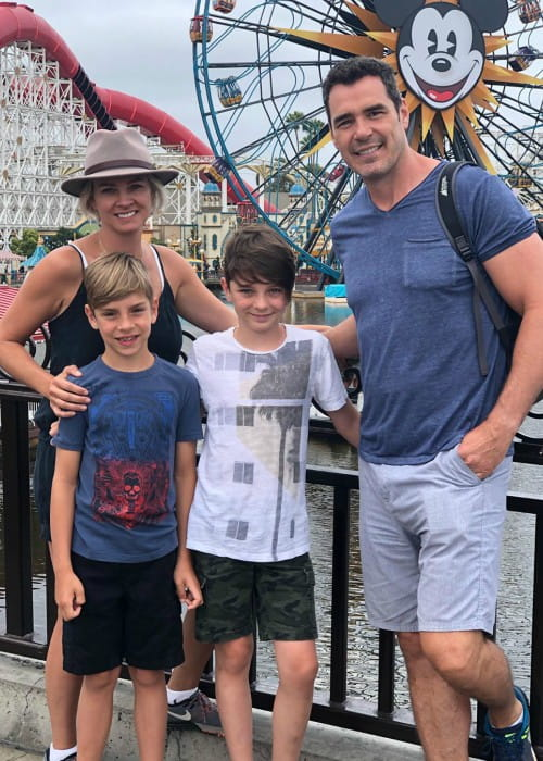 Dan Payne with his family as seen in July 2019