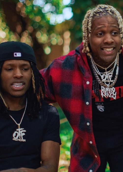 King Von as seen in a picture with rapper and good friend DurkioWorld in April 2019