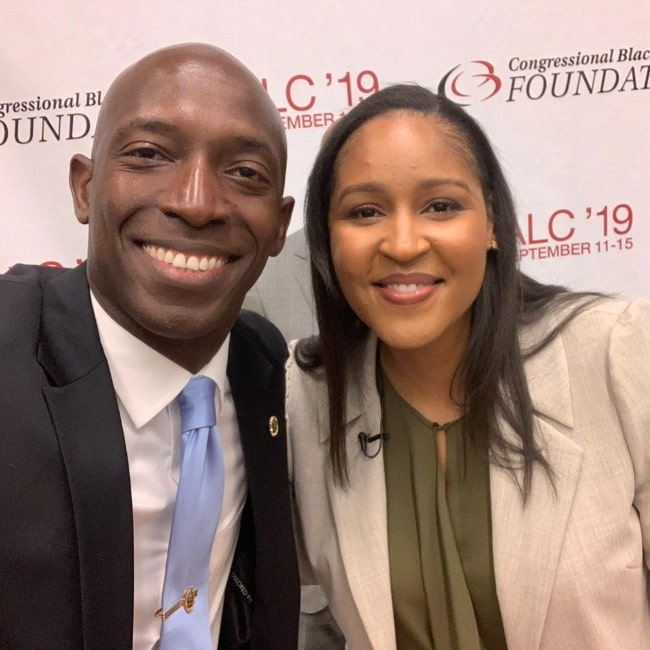 Wayne Messam as seen in a picture alongside Maya Moore during an event in September 2019