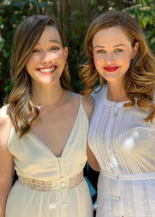 Victoria Pedretti (Left) and Ambyr Childers as seen in December 2019