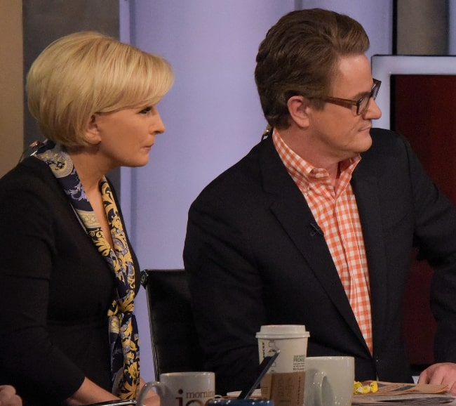 Joe Scarborough as seen along with Mika Brzezinski discussing the massive security efforts for the inauguration in Washington, D.C. on MSNBC's 'Morning Joe' in January 2017
