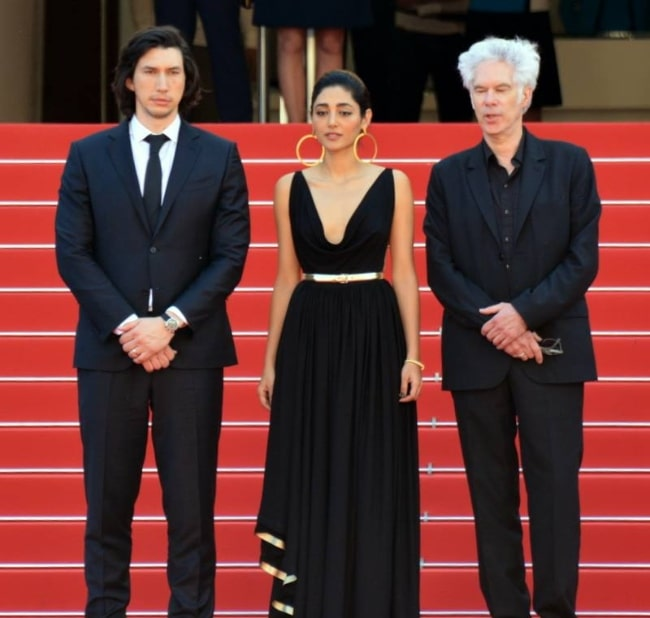 Golshifteh Farahani as seen in a picture along with Jim Jarmusch (Right) and Adam Driver (Left) at Cannes Film Festival in May 2016