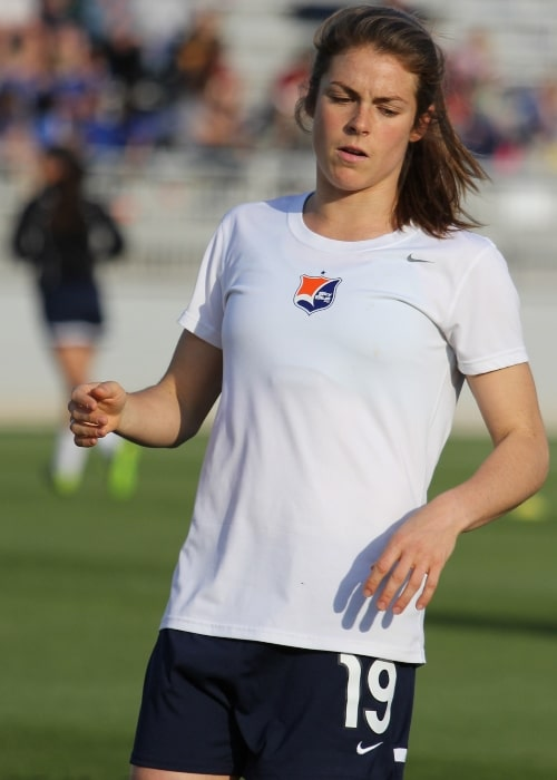 Kelley O'Hara as seen in a picture taken on June 4, 2013 while she played for the Sky Blue FC soccer team
