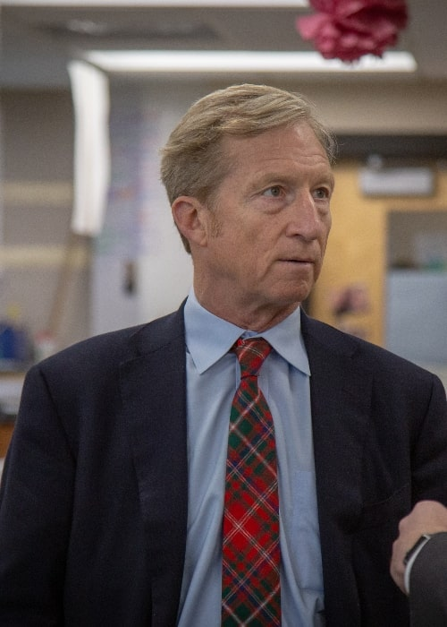 Tom Steyer as seen during his visit to Des Moines Public Schools in January 2019