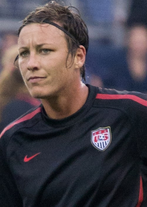 Abby Wambach as seen while warming up prior to a friendly match against Canada on September 17, 2011
