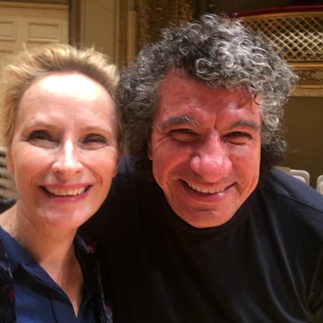 Laila Robins as seen in a picture with creative music director Giancarlo Guerrero in March 2018