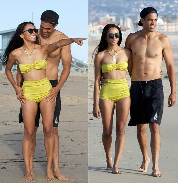 Cottrell Guidry with his ex-girlfriend Kat Graham