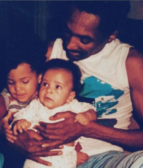 Cottrell Guidry with his father and sibling brother