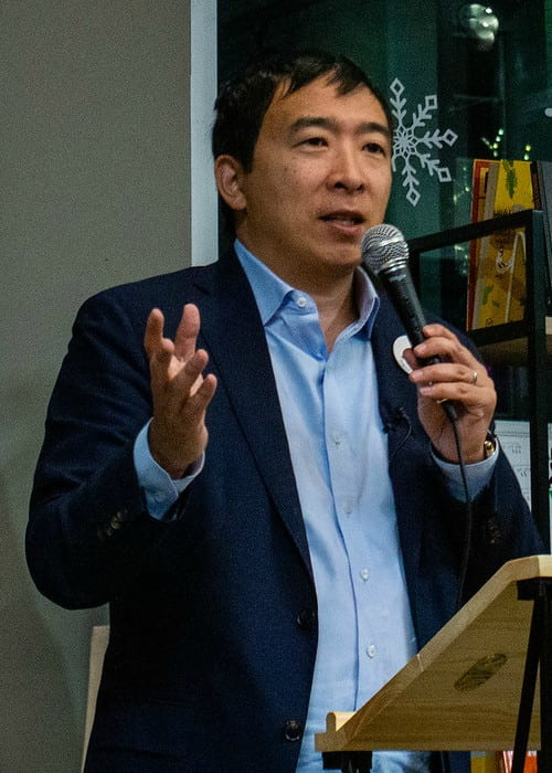 Andrew Yang as seen in January 2019
