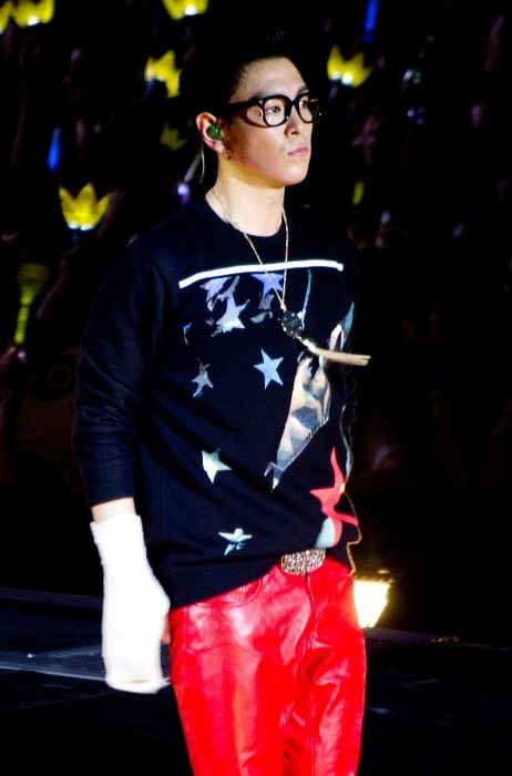 T.O.P as seen while performing on Alive Tour 2012