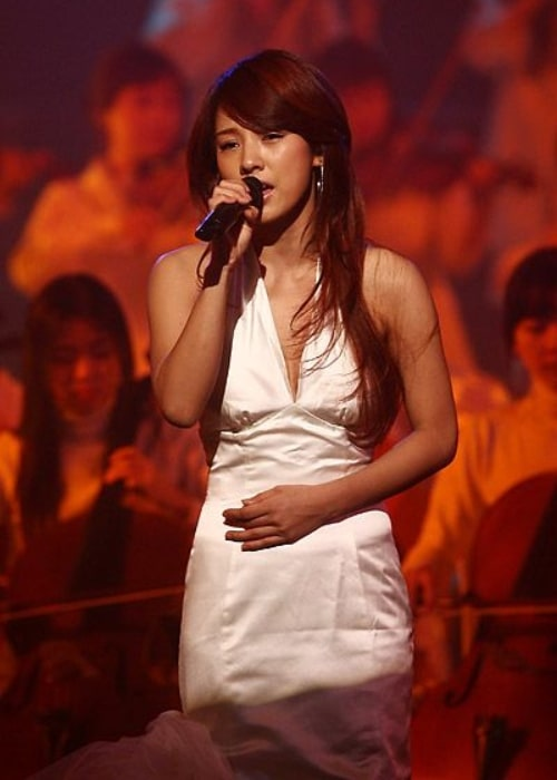 Lee Hyori as seen in a picture taken during a performance at SBS Inkigayo on February 25, 2007