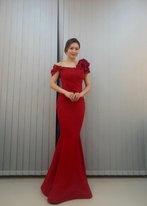 Ock Joo-hyun as seen in a picture taken after a performance in December 2019