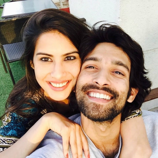 Vikrant Massey and Sheetal Thakur in a selfie in October 2019