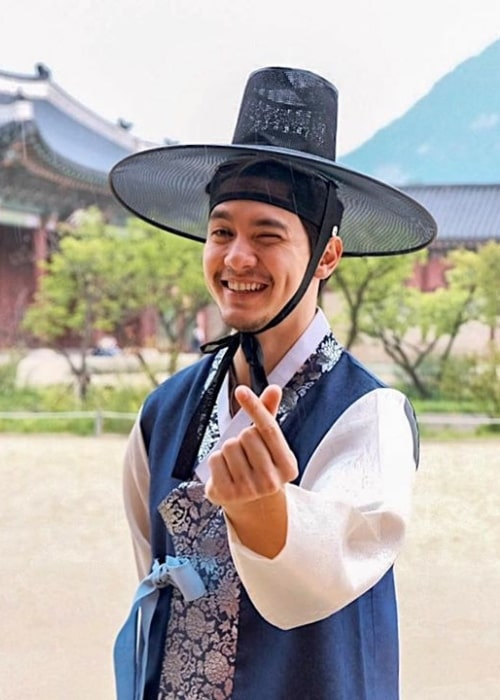 Alden Richards as seen while posing for the camera in Seoul, South Korea during his trip to Korea in August 2019