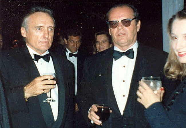 Jack Nicholson (Right) and Dennis Hopper as seen in March 1990