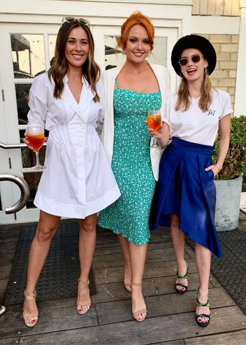 From Left to Right - Gemma Forsyth, Brooke Lee, and Isabel Durant as seen while enjoying their time at Watsons Bay Boutique Hotel in Watsons Bay, New South Wales, Australia in November 2018