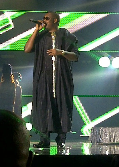 Don Jazzy during a performance as seen in June 2014