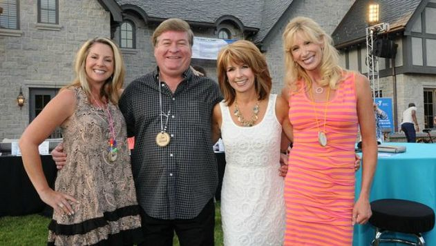 Janet Elway in a charity program with her friends