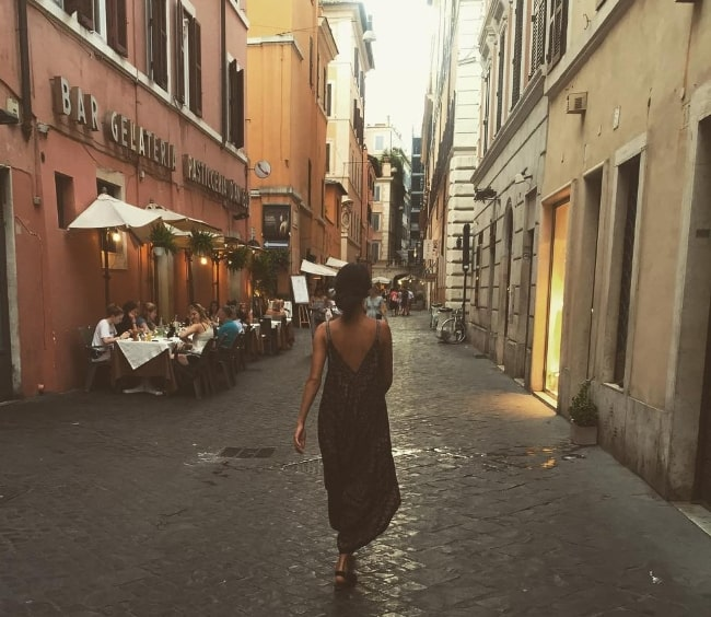 Anya Chalotra as seen while roaming around in Rome, Italy in August 2016