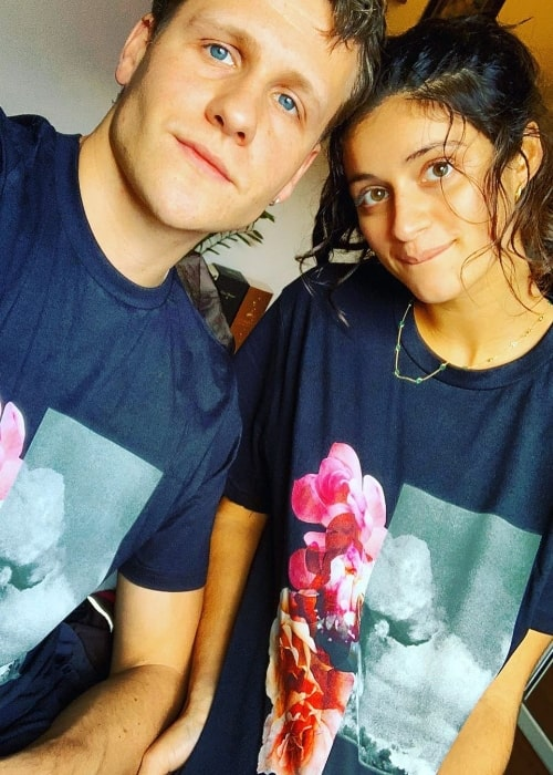 Anya Chalotra as seen while smiling in a selfie alongside Josh Dylan in November 2019