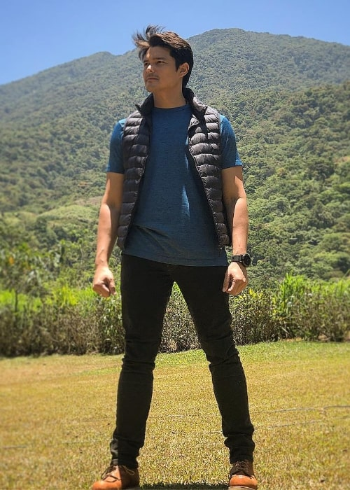Dingdong Dantes as seen while posing for the camera at Bangkong Kahoy Valley Nature Retreat and Field Study Center in Quezon, Philippines in April 2019