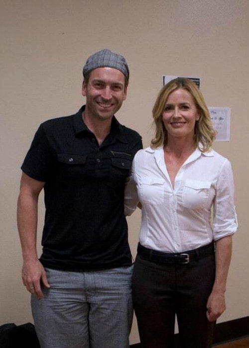 Elisabeth Shue and David Pichette as seen in May 2013