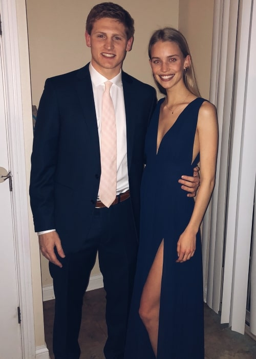 Rebecca Leigh Longendyke as seen in a picture with her partner Peter Ryan taken at the University of Notre Dame in March 2018