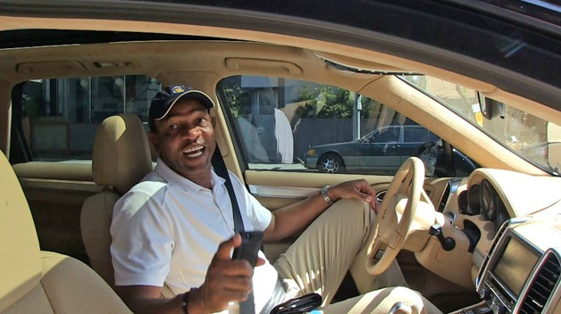 Doc Rivers siting inside his car
