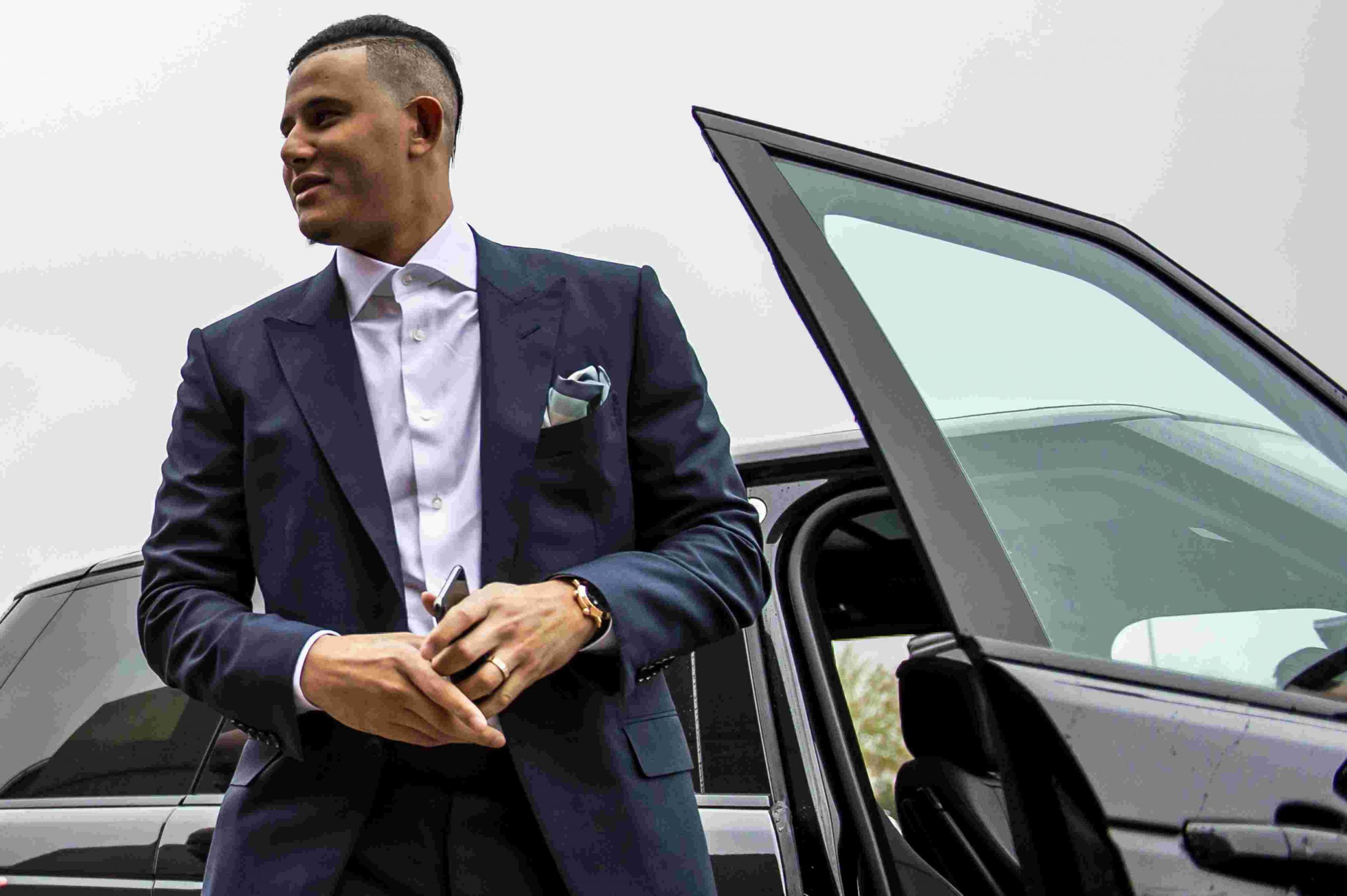 Manny Machado coming out of his car