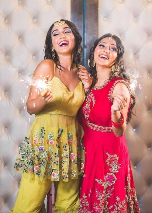 Tanya Sharma as seen in a picture taken with her sister Kreetika Sharma at the Gallops Restaurant in Mumbai in October 2019