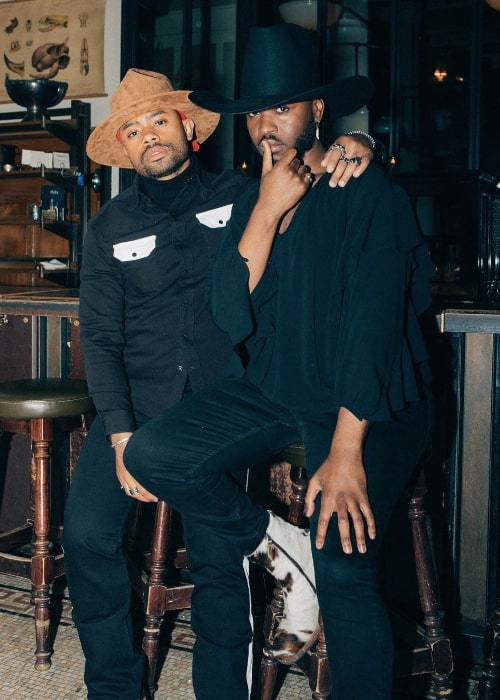 Cakes da Killa (Right) as seen while posing for the camera alongside Craig Dwelling at Ace Hotel in New York City, New York, United States in May 2019