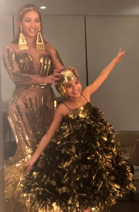 Blue Ivy Carter as seen while enjoying her time with Beyoncé in March 2018