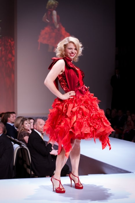 Ali Liebert as seen at the 2012 Heart Truth celebrity fashion show