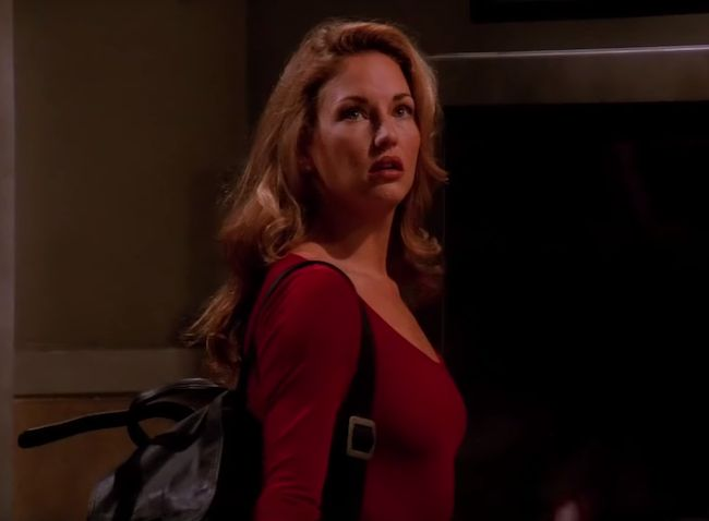 Jill Goodacre in a still from Friends in 1994