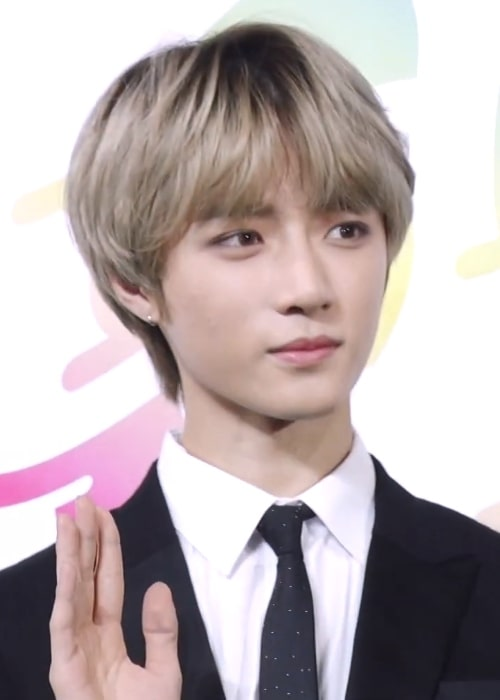 Beomgyu as seen in a picture taken at Soribada Awards on August 23, 2019