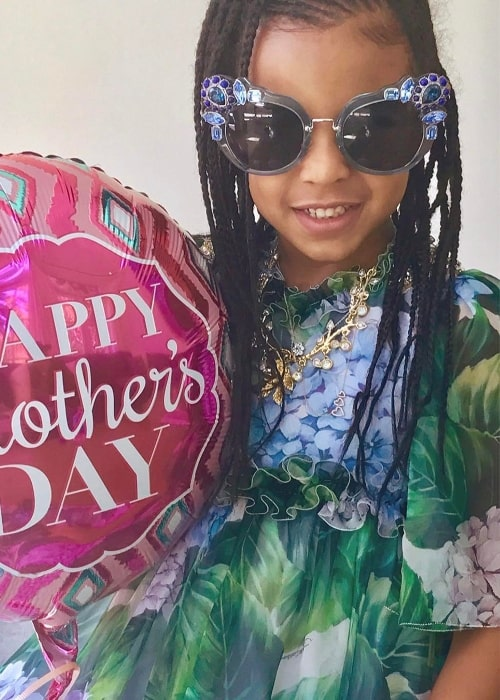Blue Ivy Carter as seen in May 2017