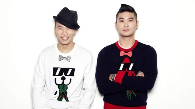 Dynamic Duo's Gaeko (On The Left) and Choiza (On The Right)