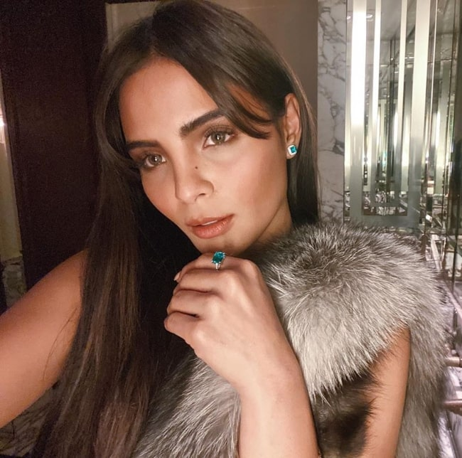 Lovi Poe as seen while taking a selfie at Cecconi's West Hollywood in California, United States in December 2019