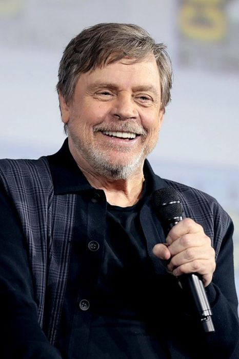 Mark Hamill speaking at the San Diego Comic-Con International for The Dark Crystal Age of Resistance in 2019