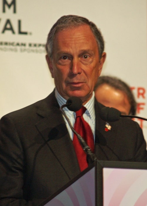 Michael Bloomberg pictured while opening the 2008 Tribeca Film Festival in Tribeca, New York City, New York, United States
