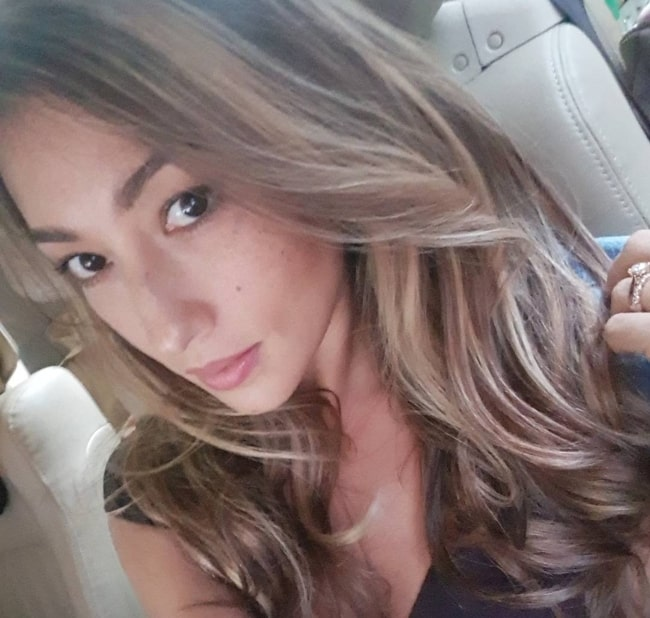 Solenn Heussaff as seen while taking a selfie in January 2018