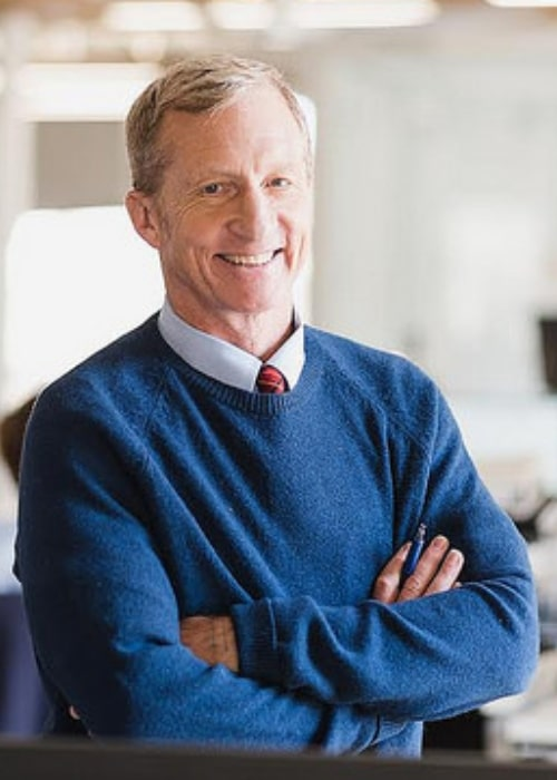 Tom Steyer as seen while smiling in a picture taken in February 2016