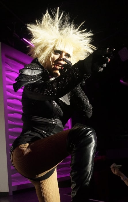 Sharon Needles as seen while performing at Play in Nashville, Tennessee, United States in March 2017
