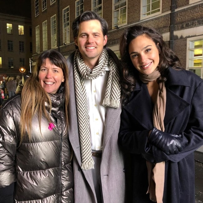 Kristoffer Polaha as seen while posing for a picture along with Gal Gadot (Right) and Patty Jenkins