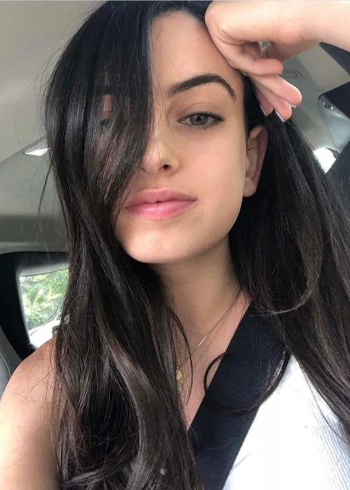 Cazzie David as seen while taking a selfie in May 2020