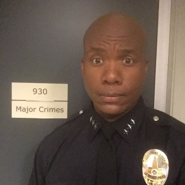 Leonard Roberts as seen while taking a selfie at Raleigh Studios in May 2017