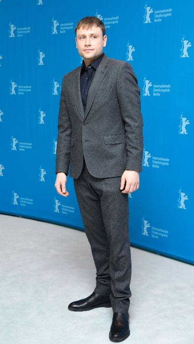 Max Riemelt presenting the film 'Berlin Syndrome' at the Berlinale 2017