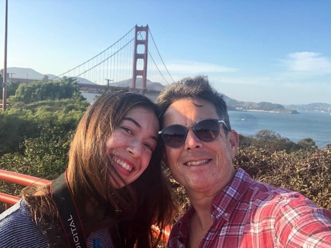 David Kaufman as seen while smiling in a selfie along with his daughter in September 2020